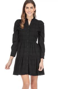 Cindy Long Sleeve Dress- Black