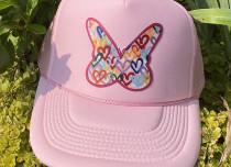 All Pink Butterfly Trucker Hat