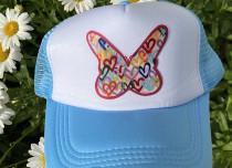 Light Blue Butterfly Trucker Hat