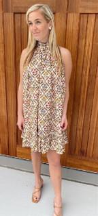 Louisa Dress- Floral Block