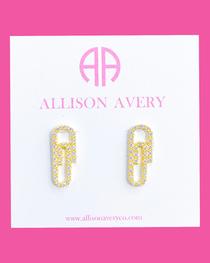 Paperclip Earrings- Clear