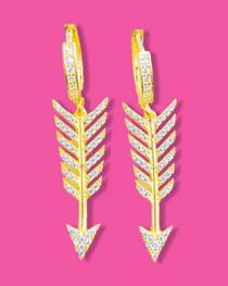 Follow Your Arrow Huggie Earrings- Clear