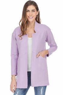 Open Coat- Lilac