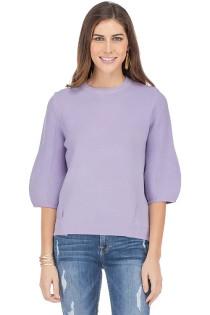 Bishop Sleeve Sweater- Lilac