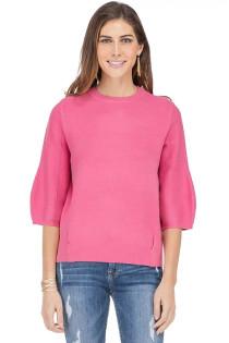 Bishop Sleeve Sweater- Pink