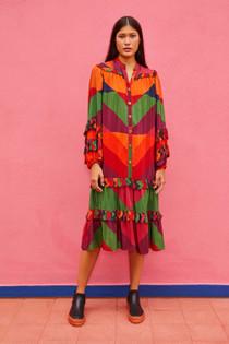 Julianna's Stripes Midi Dress