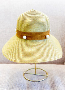Biddy Lounge Hat- Pearl Suede