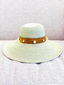 Vivienne Hat- Pearl Suede