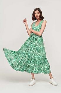 Marlana Dress- Petra Green