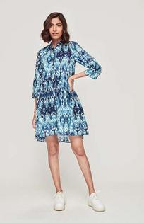Deauville Shirt Dress- Tyla Blue