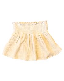 Smocked Waist Gauze Skirt- Vetiver