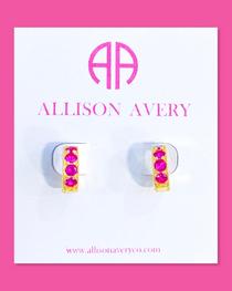 Wren Huggie Earrings- Ruby