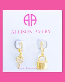 Lock & Key Huggie Earrings