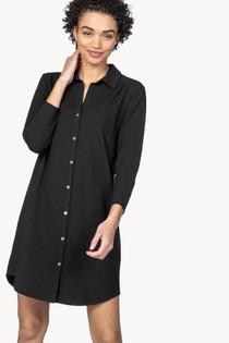 Shirt Dress- Black