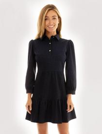 Henley Dress- Navy Denim