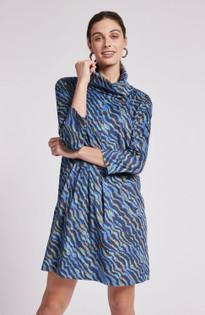Kim Faux Suede Dress- Ripple Multi