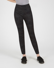 Pull On Legging- Black Tonal Camo