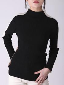 Anna Sweater- Black/Beige/Ecru