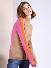 Anna Sweater- Camel/Pink