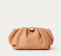 Analeigh Oversized Gathered Clutch- Dune