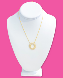 Sunburst Necklace- Clear