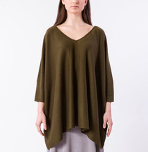 Roslyn Top- Army Olive