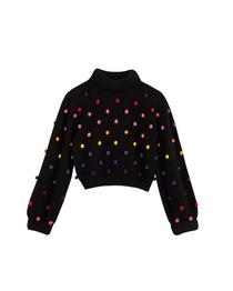 Rainbow Dots Sweater- Black