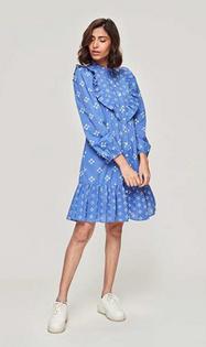 Roma Short Dress- Tasha Blue