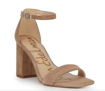 Daniella Block Heel Sandal- Oatmeal Suede