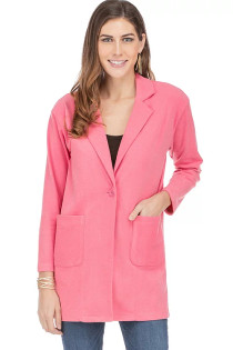 One Button Coat- Pink
