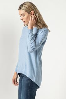 Hi-Low Tunic- Slate Blue