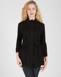 Danielle Tie Front Jacket- Black