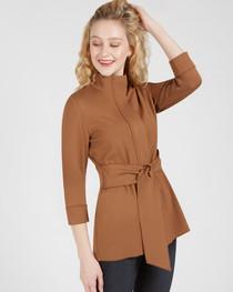 Danielle Tie Front Jacket- Scotch