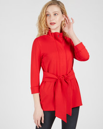 Danielle Tie Front Jacket- Red