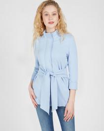 Danielle Tie Front Jacket- Bluebelle