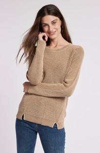 Mineral Wash Shaker Sweater- Bronze