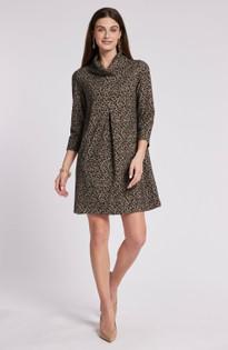 Kim Jacquard Dress- Modern Cheetah