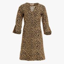Megan Dress- Camel Cheetah