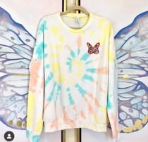 Butterfly Rainbow Sweatshirt- Rainbow Pastel