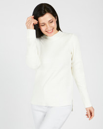 Molly Mock Neck Sweater- Creme