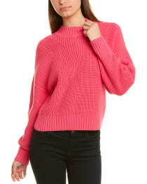 Mia Cropped Sweater- Party Pink