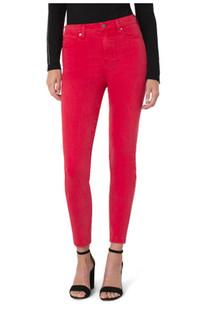 Abby Hi-Rise Ankle Skinny Jean- Cardinal Red