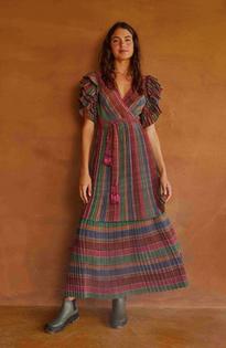 River Creatures Stripes Maxi Dress- Multi