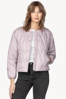 Diamond Quilted Jacket- Mist