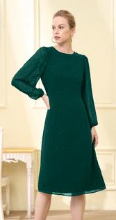 Cory Dress- Jade Green Swiss Dot