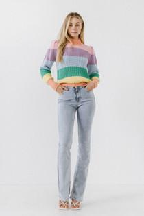 Pastel Stripe Sweater- Multi