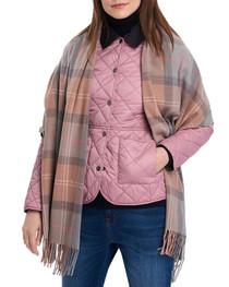Hailes Tartan Wrap- Taupe/Pink Tartan
