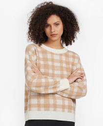 Rosevale Knit Sweater- Hessian Check
