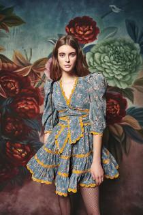 Maguay Dress- Blue Floral