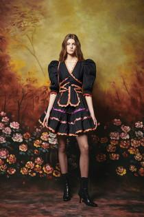 Sapin Dress- Black/Multi Trim